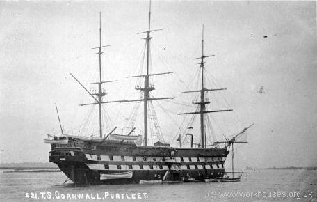 HMS Cornwall, B & W
