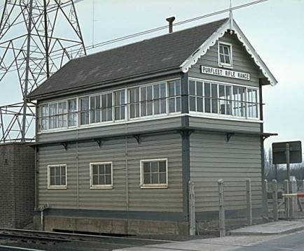 Purfleet Rifle Range signal box