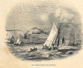 Thames fishing boats off Purfleet