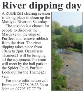 17.10.26 river dipping day, p4, The Thurrock Gazette