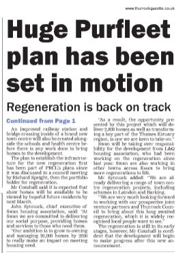 17.11.02 billion pound regeneration, p2. Thurrock Gazette, b
