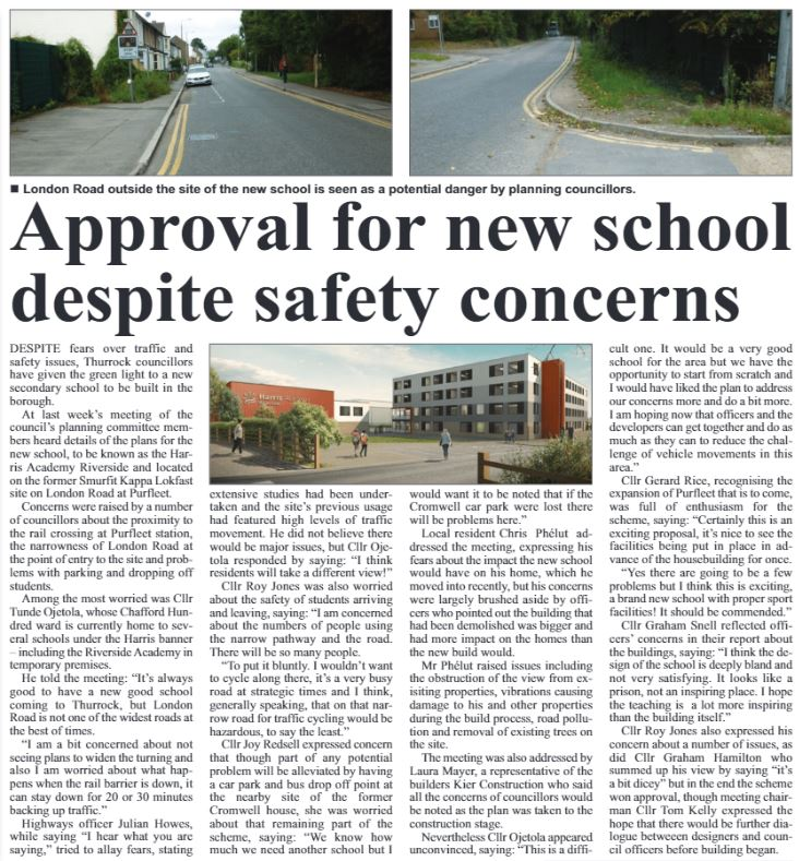 17.11.09 approval for new school, p 4. The Independant