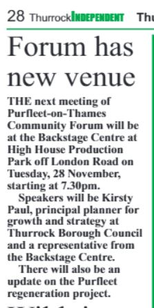 23rd November 2017 The Thurrock Independant