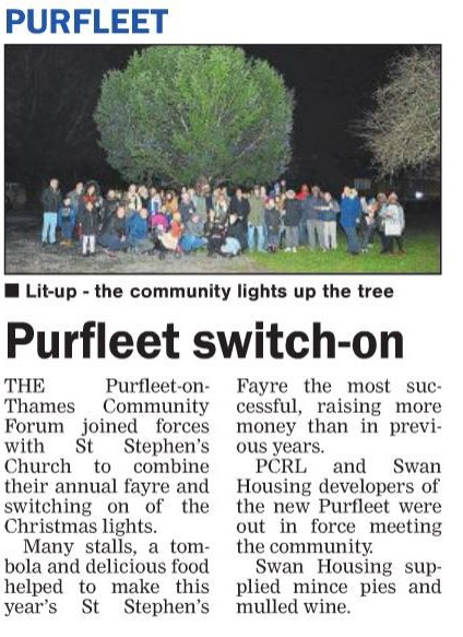 17.12.07 Purfleet light switch on, p10. The Thurrock Gazette