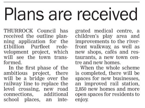 17.12.21 PCRL plans received, p4. Thurrock Gazette