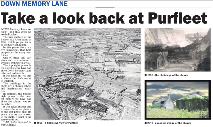 17.12.28 take a look back at Purfleet, p14. Thurrock Gazette