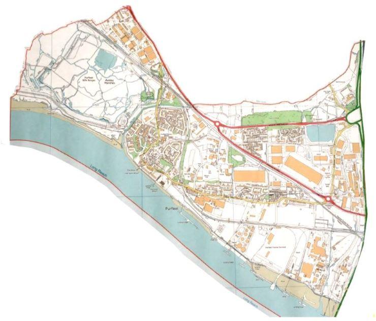 Purfleet Boundary Map