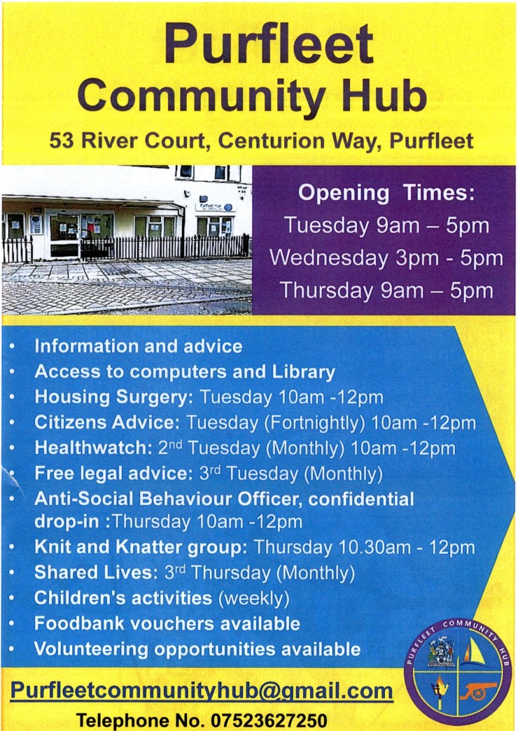 Purfleet Community Hub, 19.4.18