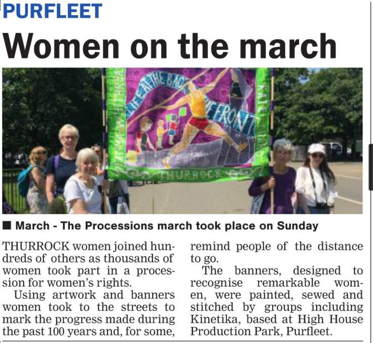 18.06.14 Women on March, p10. Thurrock Gazette