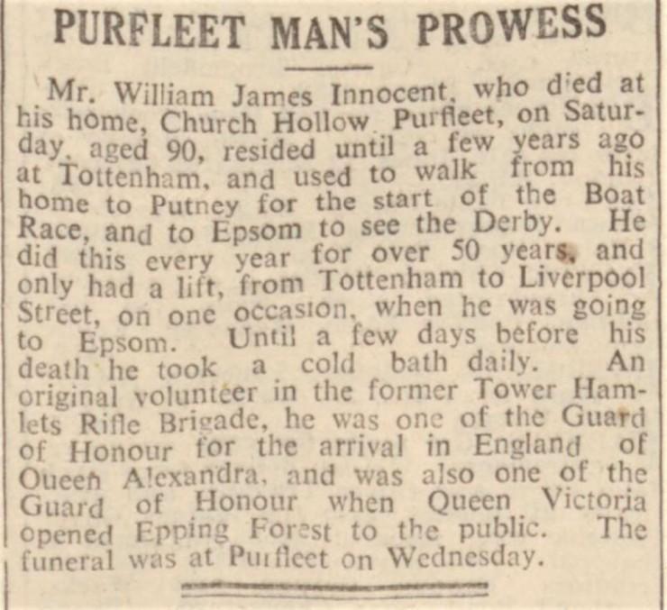 1940.01.27 Purfleet Man's Prowess, Essex Newsman