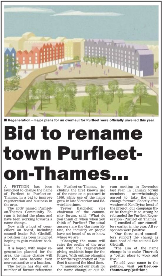 18.08.09 Change the Name POT, p4, Thurrock Gazette