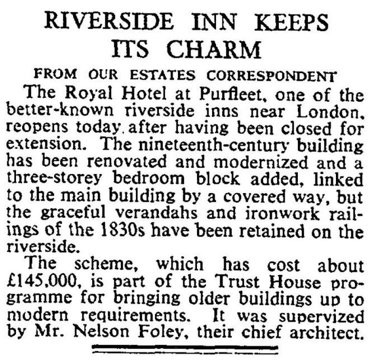 1965.6.29 Royal Hotel facelift, The Times