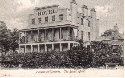 Royal Hotel, Purfleet in 1905