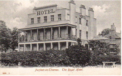 Royal Hotel, Purfleet in 1905