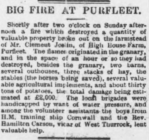 1898.04.08 big fire at High House farm, Chelmsford Chronicle