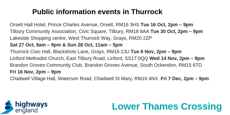 18.10.16 Lower Thames Crossing consultations