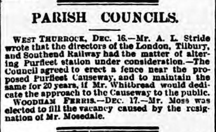 1895.12.24 Whitbread dedicates land for station, Essex Herald