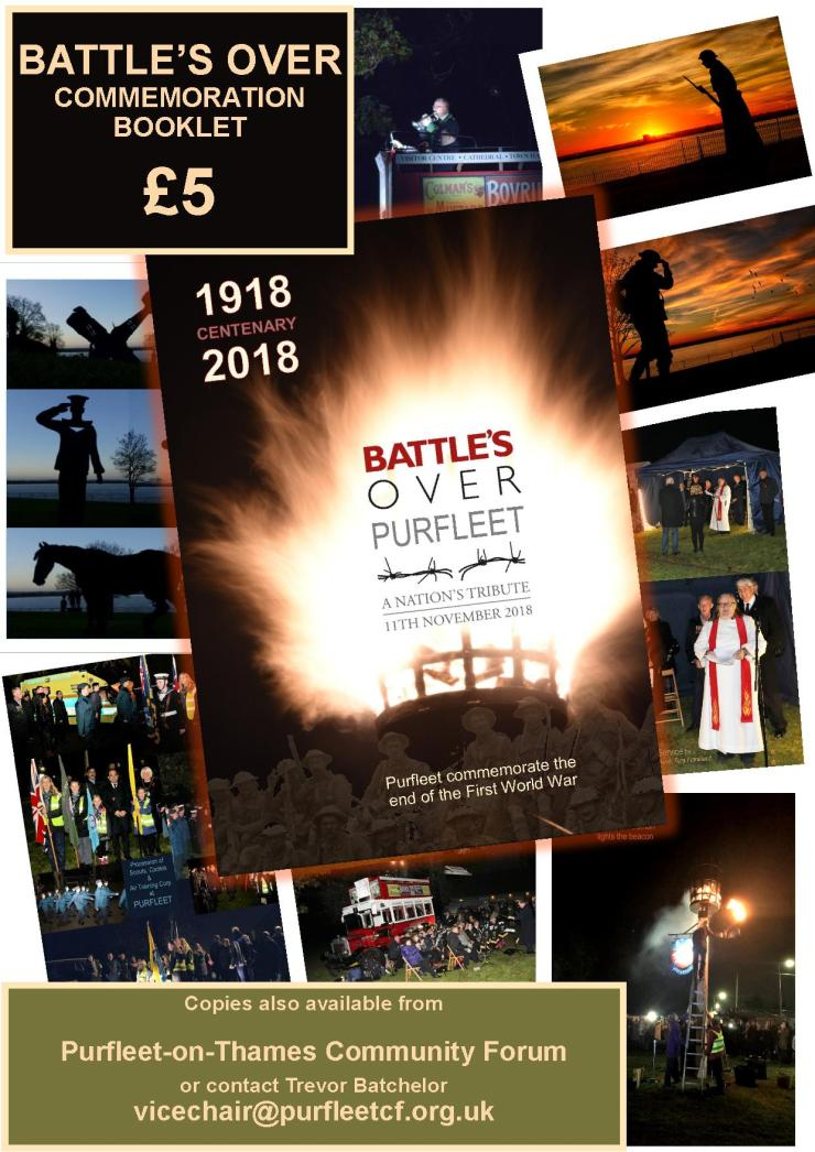 Battle's Over Purfleet booklet flyer