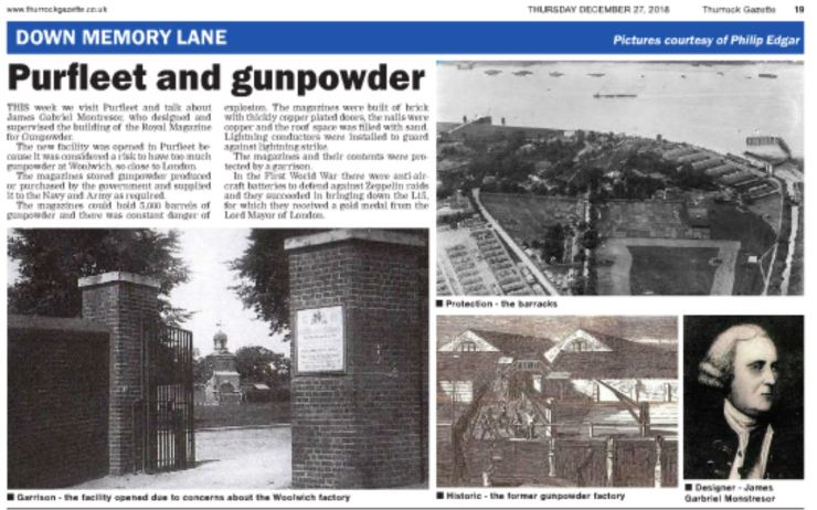18.12.27 'Purfleet & Gunpowder', Thurrock Gazette