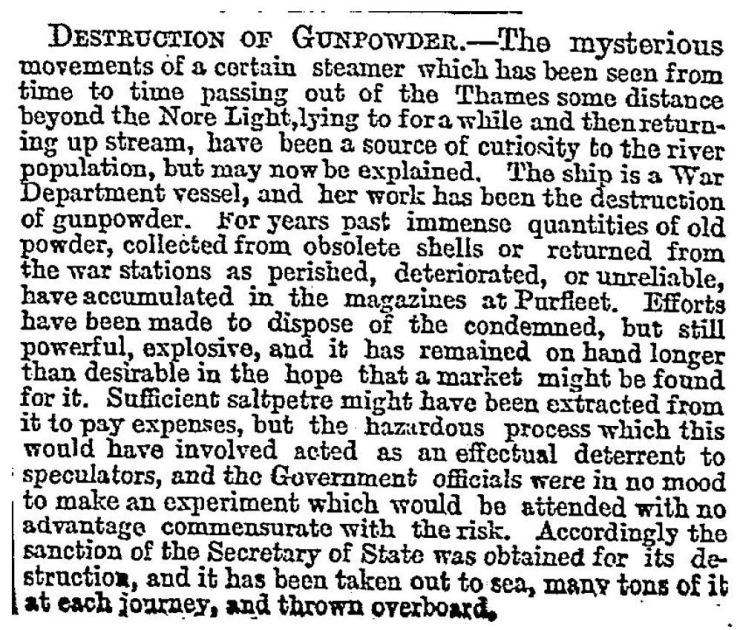 1887.9.23 The mysterious destruction of gunpowder, The Times