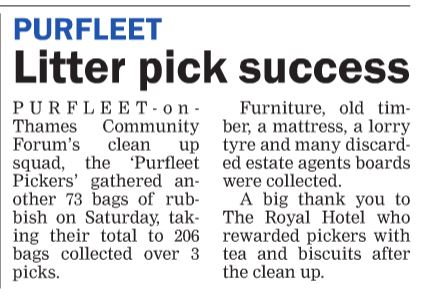 19.05.09 Purfleet litter pick a success, Thurrock Gazette