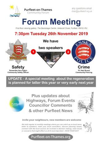 19.11.26 POTCF forum meeting, update