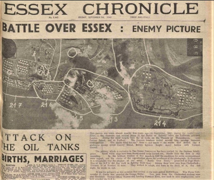 1945.09.07 battle over Essex, Chelmsford Chronicle