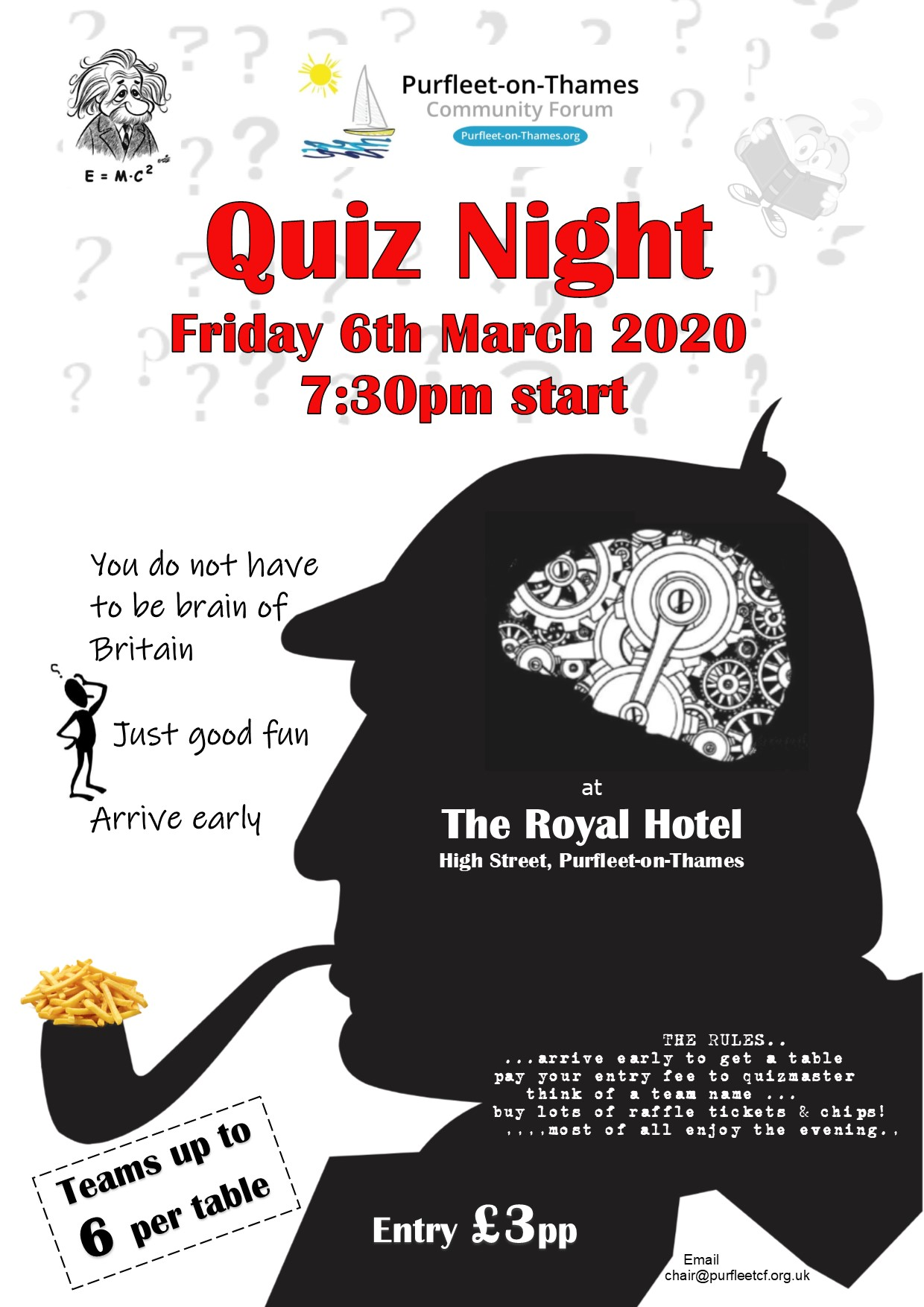 20.03.06 quiz night at the Royal
