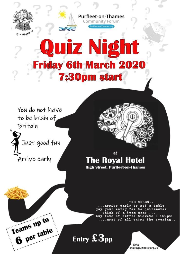 20.03.06 quiz night at the Royal