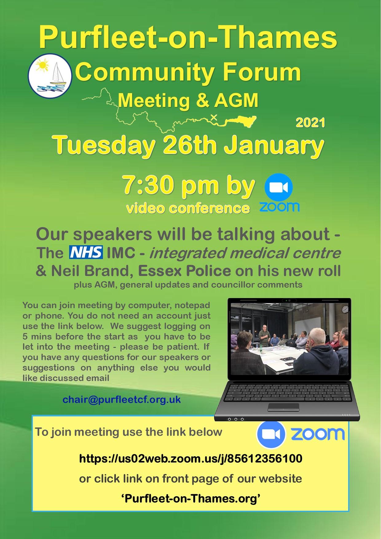 21.01.26 POTCF forum meeting & AGM